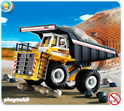 Playmobil 4037 la vie de chantier tombereau g ant - Playmobil geant a vendre ...