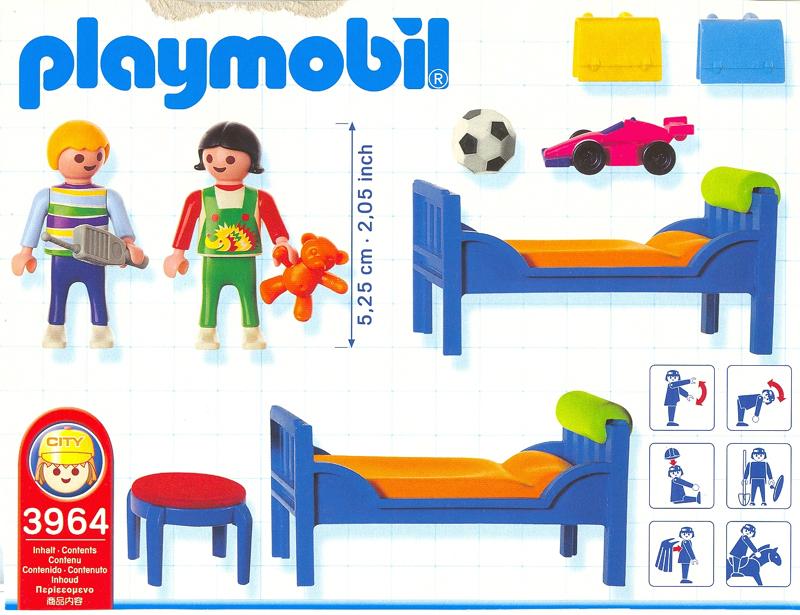Playmobil 3964 - La Maison Moderne - Chambre Enfant ...