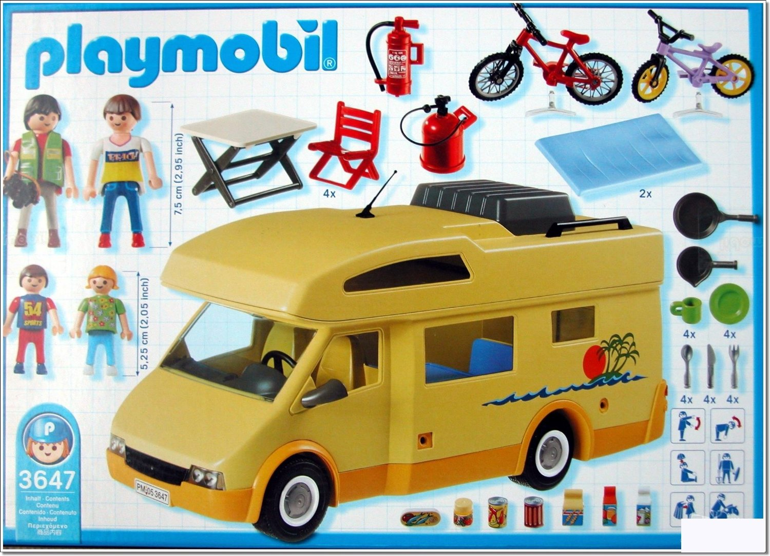 Playmobil 3647 les loisirs famille camping car for Autocaravana playmobil